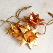 Golden Folded Moravian Star