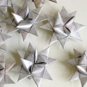 Folded Moravian silver stars