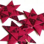 Dark Red Origami Star