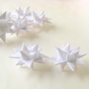 White Textured Folded Moravian Stars