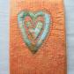 Book cover w/ applique heart