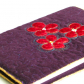 Quilted book cover w/ applique flowers