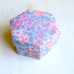 Fabric covered box, lidded