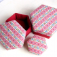 Gift box, fabric covered, lidded